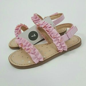 Cat & Jack Girls Pink Irisa Ruffle Sandals